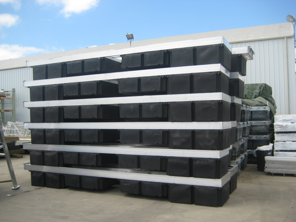 Aluminum Docks at Mid-Cal Facility