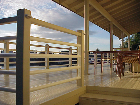 deck rail with lights
