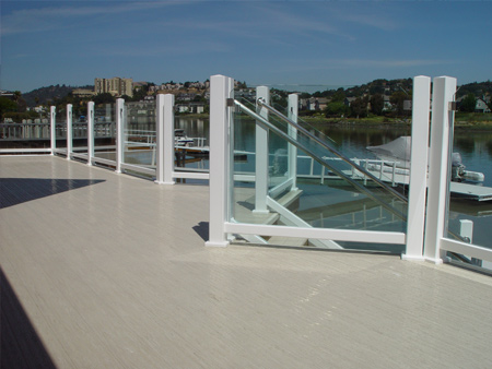 glass decking rail