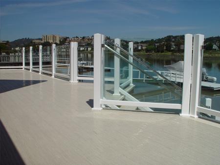 glass decking rail