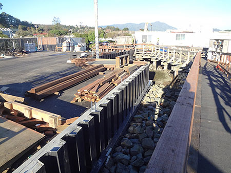 Waldo Point Harbor, Seawall Construction - San Francisco Bay