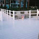 vinyl rail on brock deck