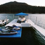 dock with aluminum gangway