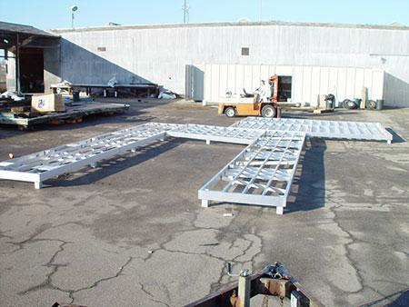 boat dock aluminum frame