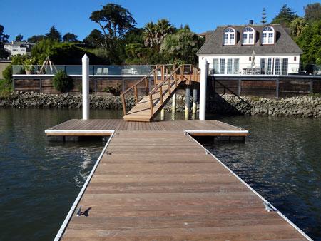 ipe boat dock belvedere
