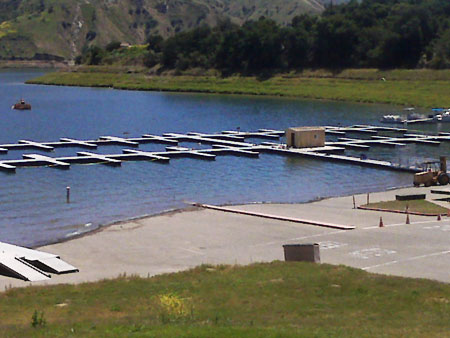 marina construction, Lake Piru