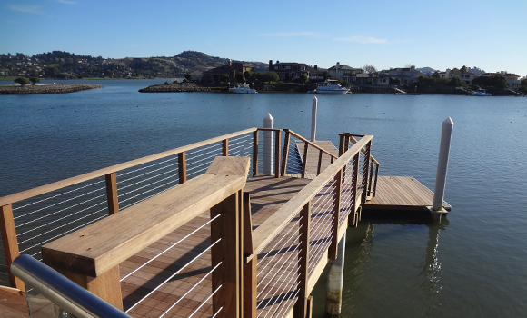Ipe Boat Dock Belvedere Cable Rail Mid Cal Construction