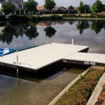 Floating lake dock