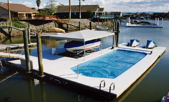 Floating Dock with Pool