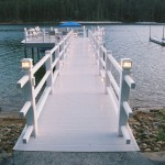 Pier with vinyl decking
