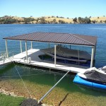 Lake Tulloch floating dock with cover