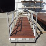 Gangway with Aluminum Frame and Ipe Decking