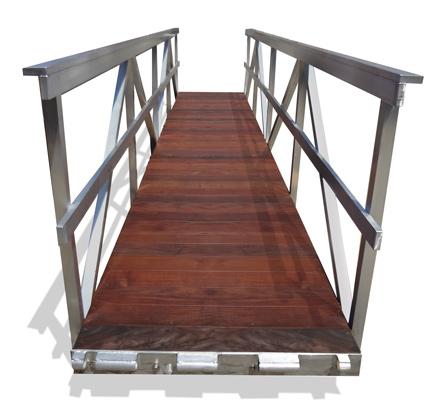 Aluminum Gangway, Ipe Decking