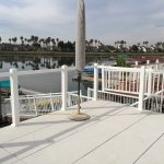 Deck with Concrete Pavers and Cable Railing
