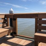 Cable Railing Gate with Ipe Cap