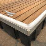Aluminum Dock Frame with Spaced Ipe Decking