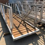 Aluminum Gangway with Spaced Ipe Decking