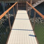 Custom Gangway with Cable Railing and Ipe Cap