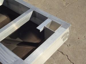 Aluminum Dock Frame Detail