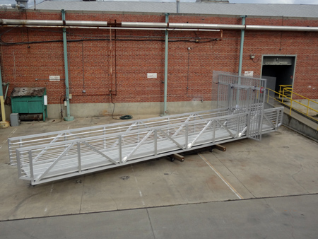 commercial aluminum gangway with security gate