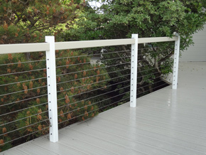 Vinyl and Cable Railing