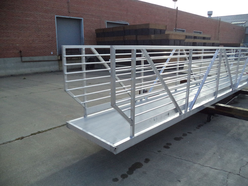 Gangway with Side Tubing